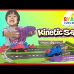Kinetic Sand Build Crash 'Em Cars Play Set Toys For Kids Ryan ToysReview