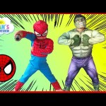The Hulk in Spiderman House Steal Egg Surprise Toys Ryan ToysReview