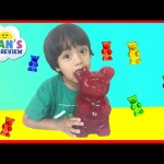 World's Largest Gummy Bear Challenge Ryan ToysReview