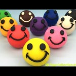 Fun Play and Learn Colours with Play Doh Smiley Face with Football Mold for Kids