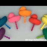 Glitter Playdough Ducks Lollipops with Animal Molds Fun for Kids