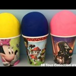 Play Doh Surprise Cups Disney Frozen Finding Dory Sheriff Callie Wild West Star Wars Paw Patrol Toys