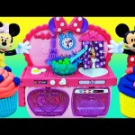 MINNIE MOUSE Bowtastic Play Kitchen Playset PLAY-DOH Cupcakes + Disney Mickey Mouse