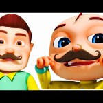 Funny Little Babies Wearing Mustache | Five Little Babies Collection | Zool Babies Fun Songs