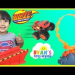 Blaze the Monster Machine Flaming Volcano Jump Playset Slam and Crash Zeg Toy Cars for Kids