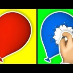 The Balloon Show 3D for Learning Colors – Teach Colours Balloons for Children Kids Baby Toddlers