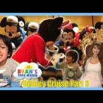 Disney Cruise Fantasy Family Fun Vacation Tour Part 3 Minnie Mouse Egg Surprise Toys Minions