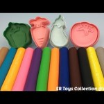 Playdough Modelling Clay with Vegetable Molds Fun for Kids