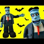 FRANKENSTEIN & DRACULA Stop Motion Play Doh Animación Hotel Transylvania 2