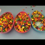 Hidden Surprises in 3 HUGE GIANT JUMBO Surprise Eggs Filled with Candy! Part 5