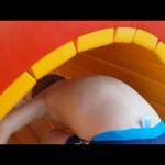 Outdoor playground fun for kids near water park. Video 2016