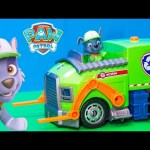 PAW PATROL Nickelodeon Paw Patrol Lights and Sound Rocky Vehicle a Paw Patrol Video Toy Review