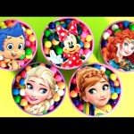 Disney Gumballs Surprise Bubble Guppies Princesses Anna Merida Elsa Disney Frozen Girls Toys