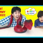 WORLD'S LARGEST GUMMY SNAKE CANDY CHALLENGE 26lb Giant Gummy Worm Python Ryan ToysReview