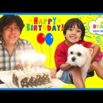EVERYDAY WITH RYAN TOYSREVIEW – Daddy's Birthday , Lights Went Out & Playtime with Ella the Dog
