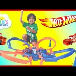 Hot Wheels Criss Cross Crash Track Motorized Toys Cars for Kids Disney Cars Toys Ryan ToysReview
