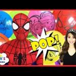 Spiderman Princess T Balloon Pop Toys Surprise Challenge Marvel Universe Guardian Blind Bag