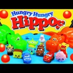 HUNGRY HUNGRY HIPPOS Game Eating Toys! Chomping Kids Toys Wikkeez, Shopkins, Cars, Orbeez
