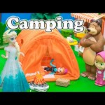 FROZEN Disney Frozen Elsa Mickey Mouse + Peppa Pig Nicklodeon Camping Frozen Video Paroody