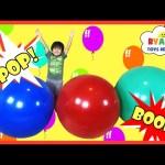 GIANT BALLOON POP SURPRISE TOYS CHALLENGE Disney Cars Toys Thomas & Friends Trains Marvel Superhero