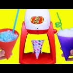 Candy Snow Cone Maker by Jelly Belly Yummy Ice Dessert Play Food Toy Review by DisneyCarToys