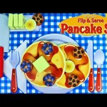 Melissa & Doug Wooden Flip N Serve Pancake Kid Set Slice & Cut Kitchen Pretend Play Breakfast Food