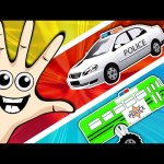 Street Vehicles Finger Family and more Nursery Rhymes Compilation – Color Songs Collection for Kids