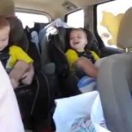 Cute 2-year-old Twins Playing on the Way to Disneyland!