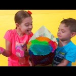Children playing with Gelli Baff fun. Huge ice cream.  Video 2016 from KIDS TOYS CHANNEL