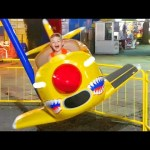 Outdoor playground fun for kids with planes. Video from KIDS TOYS CHANNEL