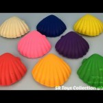 Fun with Play Doh Seashells and Molds