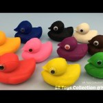 Fun Play and Learn Colours with Play Dough Ducks and Star Wars Molds Creative for Kids