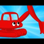 My Red Excavator – My Magic Pet Morphle Digger/excavator Construction Vehicle Video for Kids!