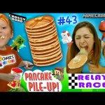 Chase's Corner: PANCAKE RACE! + Crossy Road & Minecraft Toys Blind Boxes Minis (#43) | DOH MUCH FUN