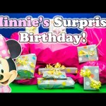 MINNIE MOUSE Disney Mickey Mouse Clubhouse Minnie Surprise Birthday Party Surprise Eggs Toys Video