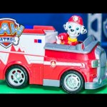 PAW PATROL Nickelodeon Paw Patrol Rescue Marshall Vehicle Toys Video Unboxing