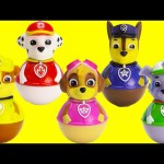 Paw Patrol Weebles on Seal Island Sliding Slime Fun