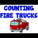 Fire Trucks Numbers | Learn numbers from 1 to 6