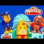 PAW PATROL Nickelodeon Play Doh Paw Patrol Fuzzy Pet Salon Toys Video parody