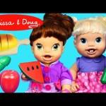 Melissa & Doug Wooden Slice &  Snack Fruit & Veggie Food + Baby Alive Lucy Doll DisneyCarToys