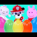 Learn – Counting & Animal Sounds with Surprise Eggs Peppa Pig Paw Patrol Doc McStuffins (English)