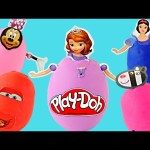 5 Clay Buddies Play Doh Surprise Eggs Peppa Pig Sofia The First Minnie Mouse Disney Princess Cars