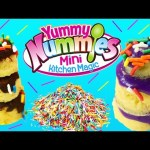 Yummy Nummies GIANT Birthday Cakes Party Kit Magic Tiny Kitchen Treats + Pastry Chef Barbie & Elsa