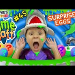 Chase's Corner: SLIME BATH CHALLENGE w/ SURPRISE EGGS TOYS (#45)| DOH MUCH FUN SLIMY BAFF TUB TIME