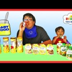 BABY FOOD CHALLENGE Super Gross Flavors! Ryan ToysReview