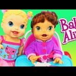 Baby Alive Doll BABY SWING, HIGH CHAIR & Car Booster Seat with Baby All Gone Lucy DisneyCarToys