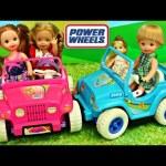 Barbie Kelly Power Wheels Frozen Kids Playground Park Adventure with Elsa, Anna & Baby Doll Parody