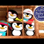Five Little Penguins | Nursery Rhymes | Original Song By LittleBabyBum!