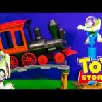 TOY STORY Disney Pixar  Buzz Saves the Train Action Toys Video Parody
