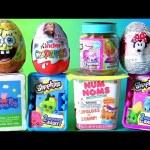 Disney Toys Surprise Eggs Boxes Peppa Pig NUM NOMS Shopkins Kinder Frozen Minnie Funtoyscollector